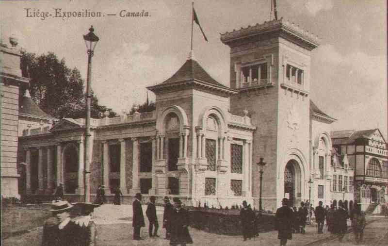 Expo Liège 1905 - Carte postale - Pavillon du Canada