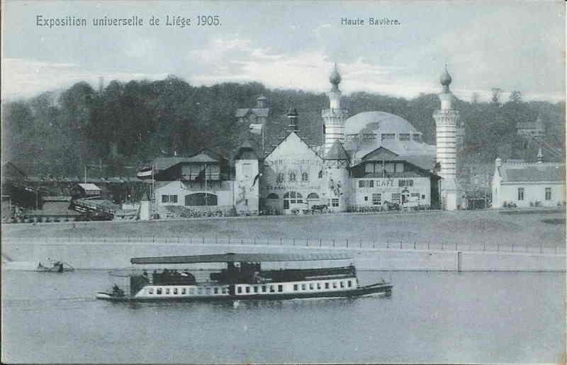 Expo Liège 1905 - Carte postale - Restaurant de la Haute-Bavière Ober-Bayern