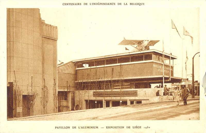 Expo Liège 1930 - Carte postale - Pavillon de l Aluminium