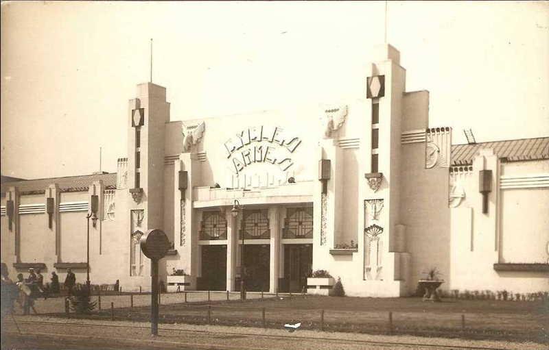 Expo Liège 1930 - Carte postale - Palais des Armes et des Cycles