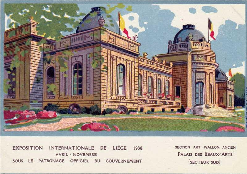 Expo Liège 1930 - Carte postale - Palais des Beaux-Arts