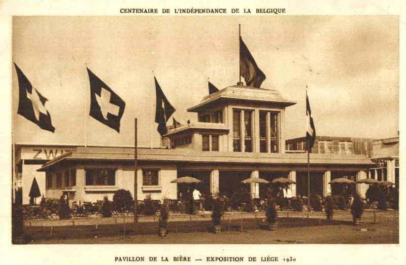 Expo Liège 1930 - Carte postale - Pavillon de la Bière