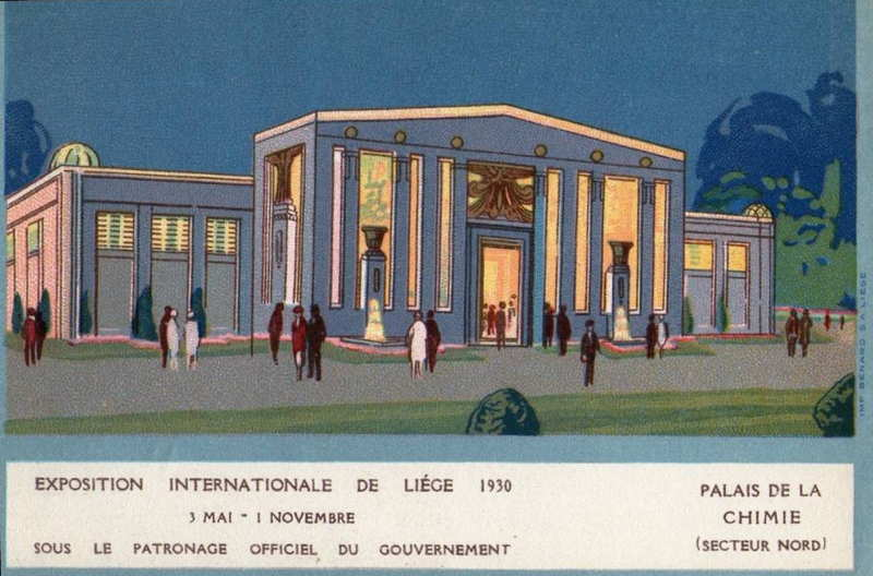 Expo Liège 1930 - Carte postale - Palais de la Chimie