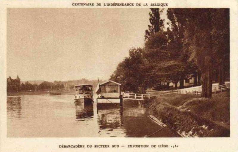 Expo Liège 1930 - Carte postale - Débarcadère du Secteur Sud