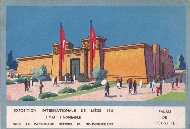 Expo Liège 1930 - Carte postale - Pavillon de l Egypte