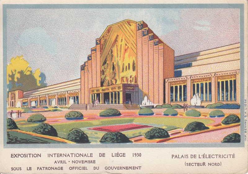 Expo Liège 1930 - Carte postale - Palais de l Electricité