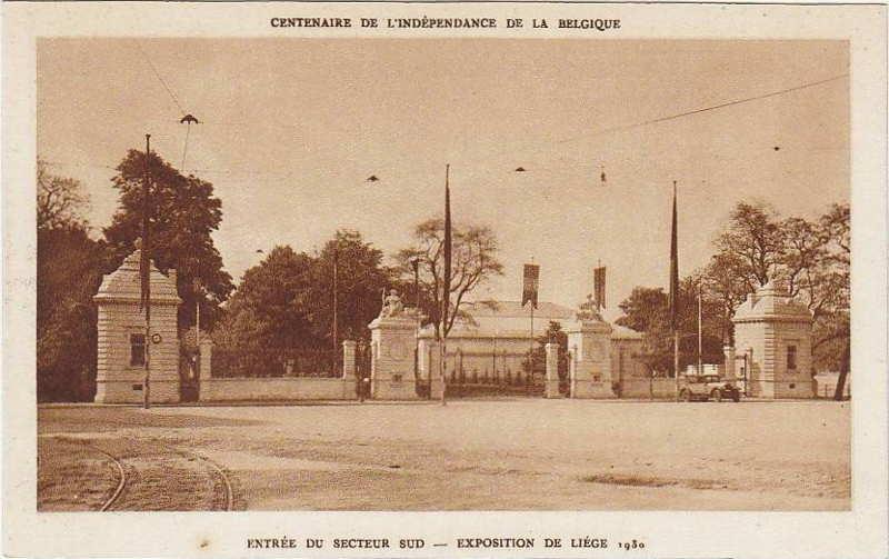 Expo Liège 1930 - Carte postale - Entrée du Secteur Sud