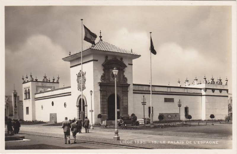 Expo Liège 1930 - Carte postale - Palais de l Espagne
