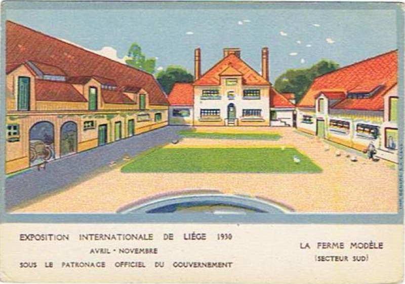 Expo Liège 1930 - Carte postale - Ferme Modèle