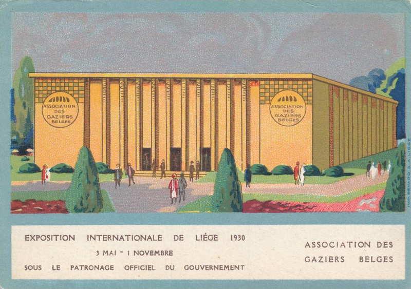 Expo Liège 1930 - Carte postale - Association des Gaziers Belges