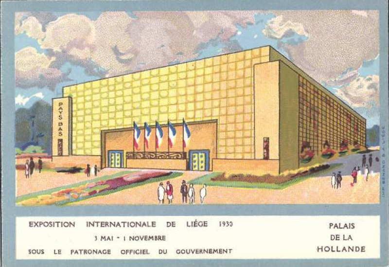 Expo Liège 1930 - Carte postale - Pavillon de la Hollande