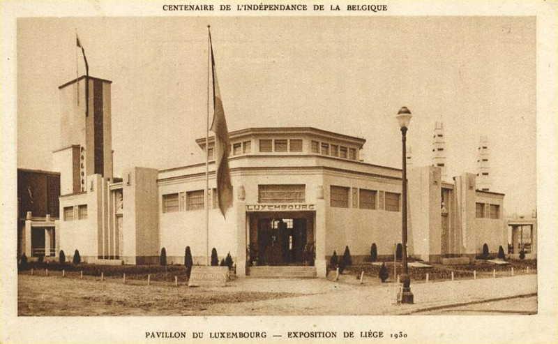 Expo Liège 1930 - Carte postale - Pavillon du Luxembourg