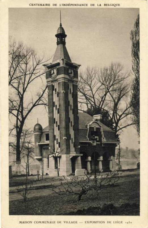 Expo Liège 1930 - Carte postale - Maison Communale du Village