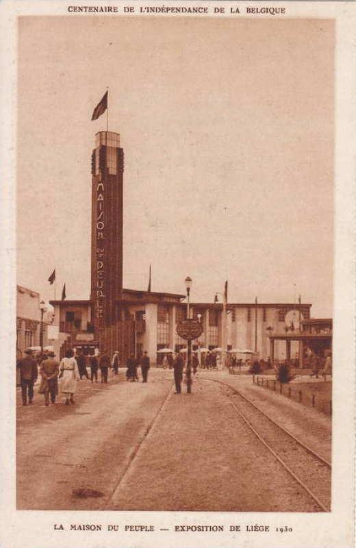 Expo Liège 1930 - Carte postale - Maison du Peuple