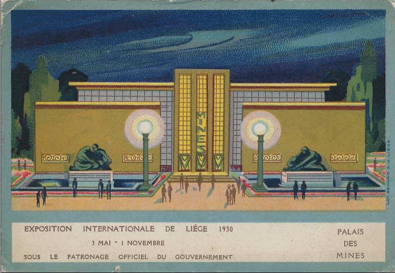 Expo Liège 1930 - Carte postale - Palais des Mines