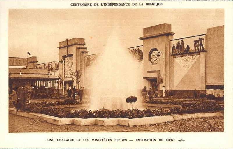 Expo Liège 1930 - Carte postale - Palais des Ministères Belges