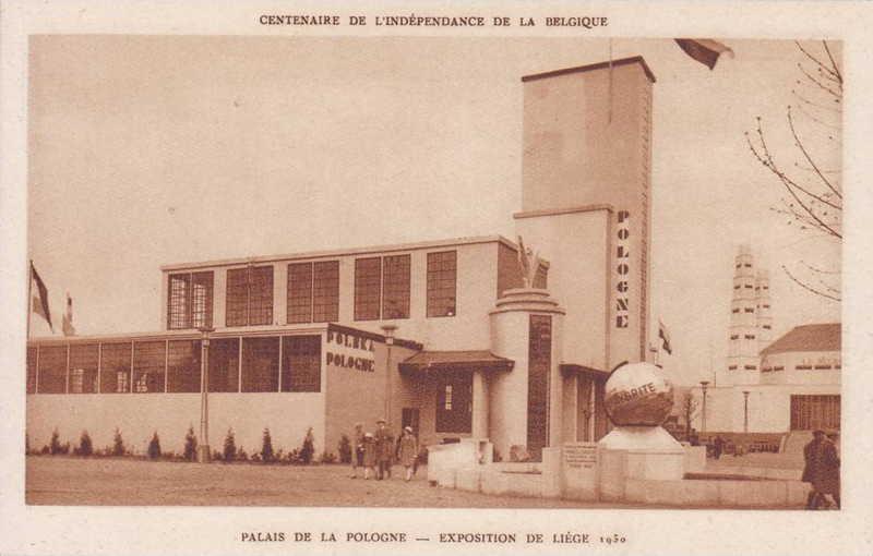 Expo Liège 1930 - Carte postale - Pavillon de la Pologne