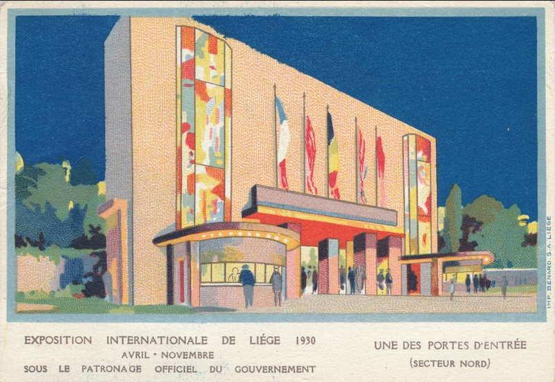 Expo Liège 1930 - Carte postale - Une des Portes d Entrée Secteur Nord