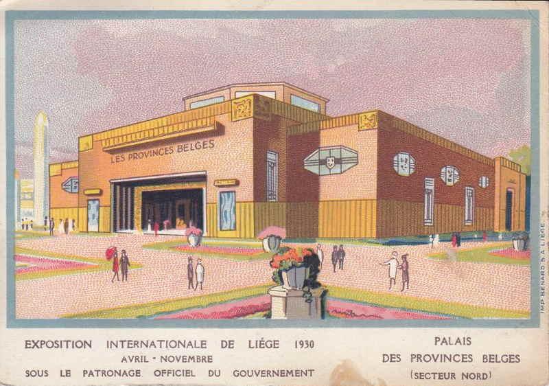 Expo Liège 1930 - Carte postale - Palais des Provinces Belges