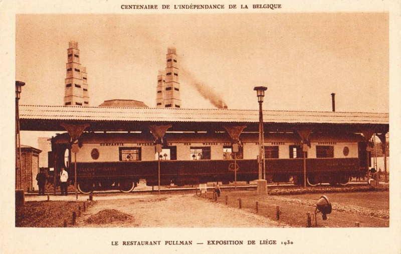 Expo Liège 1930 - Carte postale - Restaurant Pullman