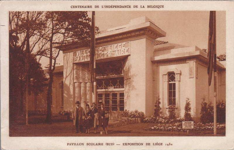 Expo Liège 1930 - Carte postale - Pavillon Scolaire