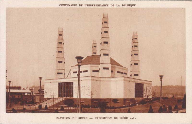 Expo Liège 1930 - Carte postale - Pavillon du Sucre