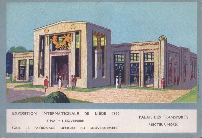 Expo Liège 1930 - Carte postale - Palais des Transports