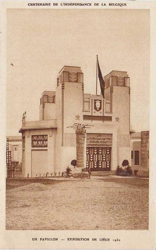 Expo Liège 1930 - Carte postale - Le Pavillon des Pieux Franki