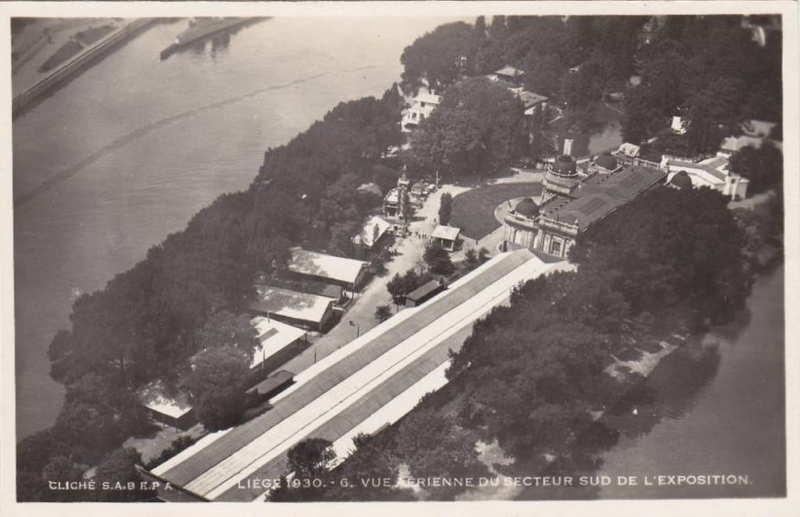 Expo Liège 1930 - Carte postale - Vues aériennes
