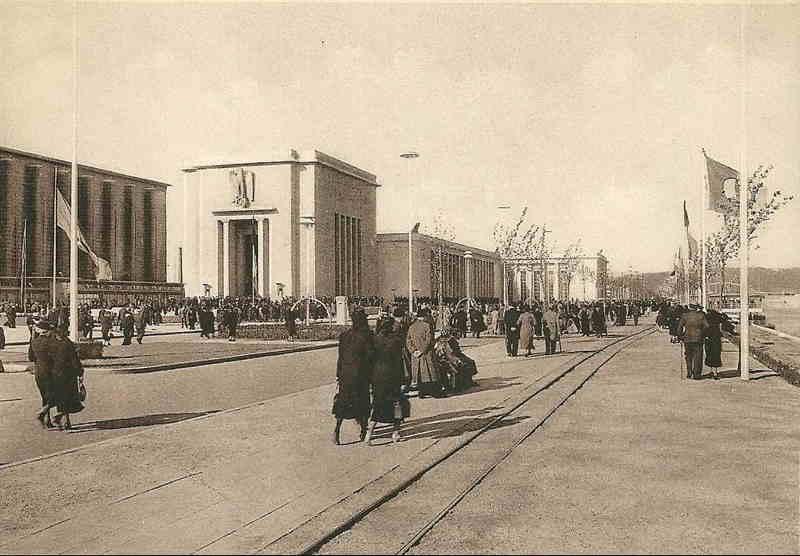 Expo Liège 1939 - Carte postale - Palais de l Allemagne