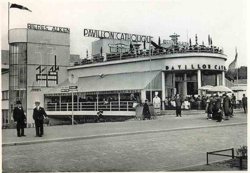 Expo Liège 1939 - Carte postale - Pavillon Catholique