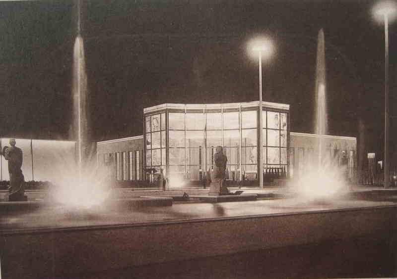 Expo Liège 1939 - Carte postale - Palais du Commissariat Général