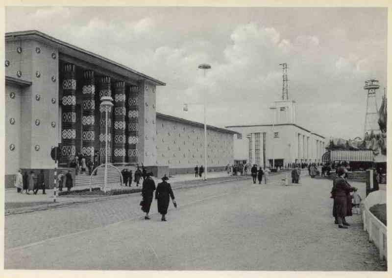 Expo Liège 1939 - Carte postale - Palais du Congo