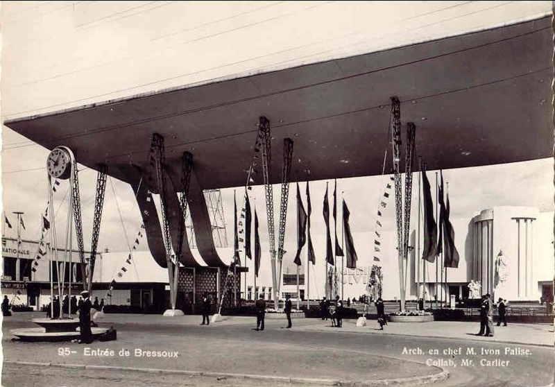 Expo Liège 1939 - Carte postale - Entrée de Bressoux