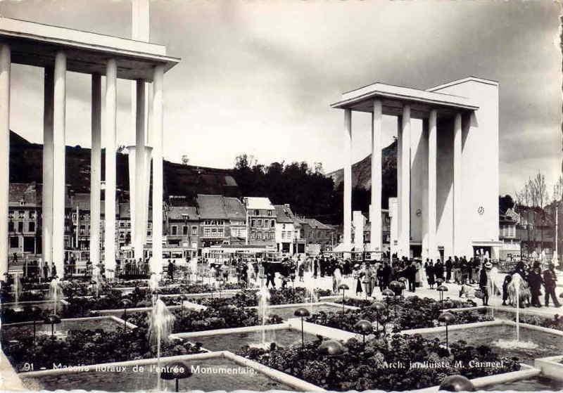 Expo Liège 1939 - Carte postale - Entrée de Coronmeuse