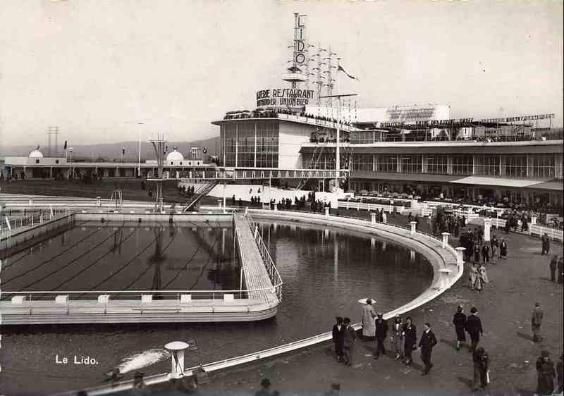 Expo Liège 1939 - Carte postale -Le Lido