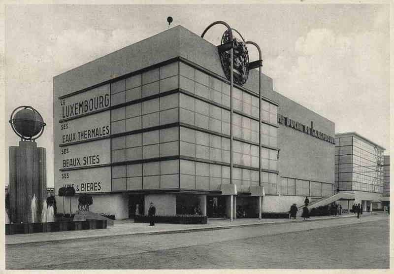 Expo Liège 1939 - Carte postale - Palais du Luxembourg