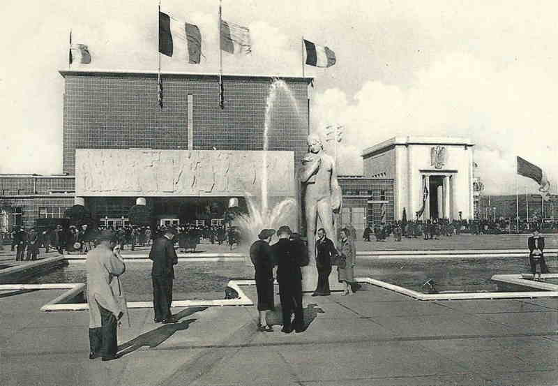 Expo Liège 1939 - Carte postale - Palais des Fêtes