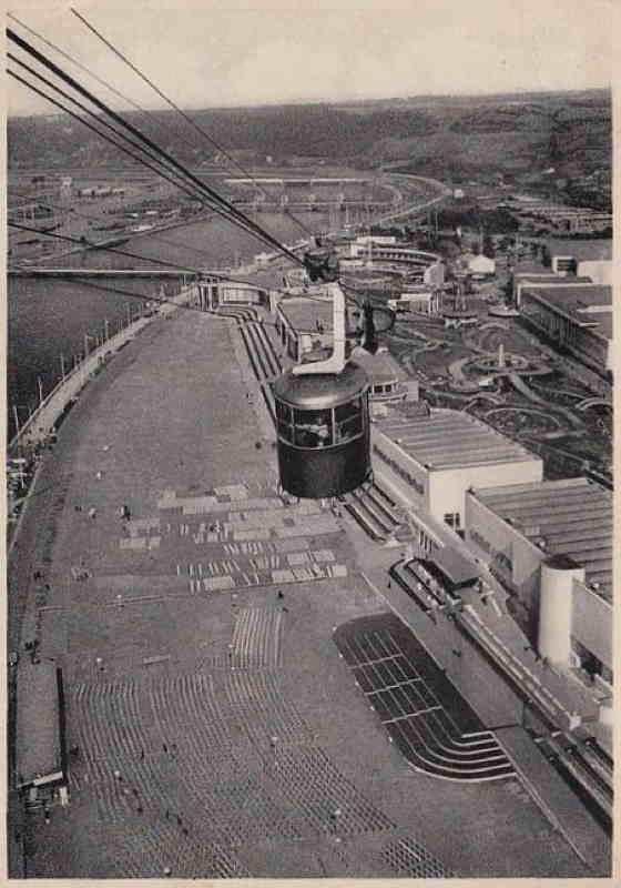 Expo Liège 1939 - Carte postale - Panorama