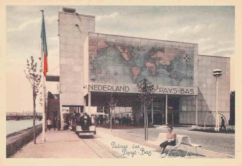 Expo Liège 1939 - Carte postale - Palais des Pays-Bas