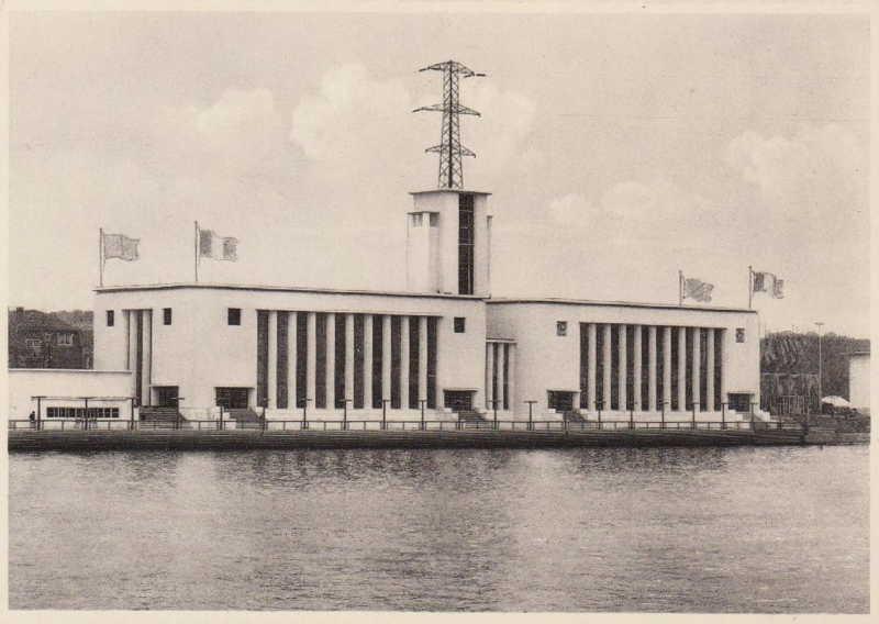 Expo Liège 1939 - Carte postale - Pavillon de la Pêche et des Sports