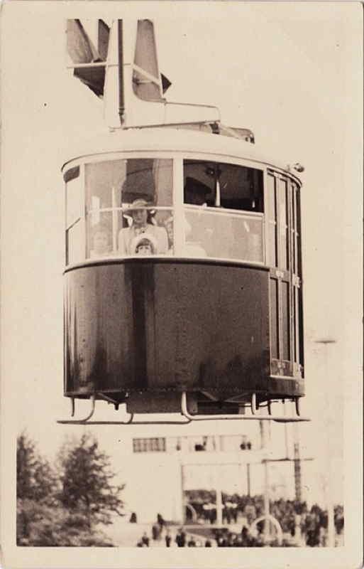 Expo Liège 1939 - Carte postale - Téléphérique