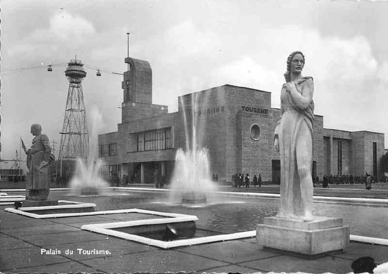 Expo Liège 1939 - Carte postale - Palais du Tourisme