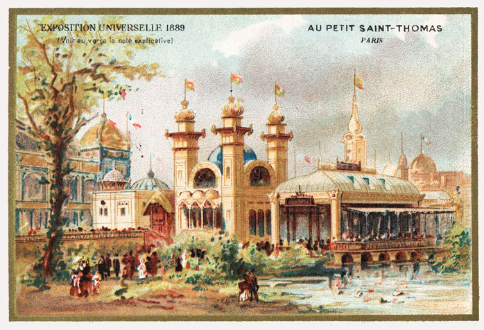 Carte Illustration de Exposition Universelle de Paris 1889
