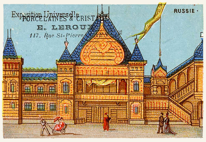 Expo Paris 1889 - Carte Illustration - Russie
