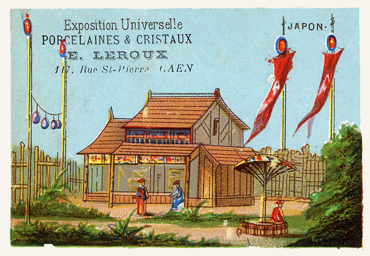Expo Paris 1889 - Carte Illustration - Japon
