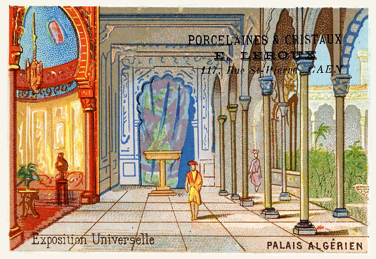 Expo Paris 1889 - Carte Illustration - Palais Algérien