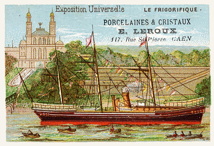 Expo Paris 1889 - Carte Illustration - La Frigorifique