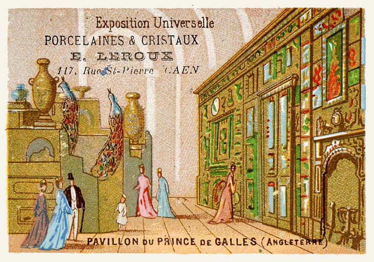 Expo Paris 1889 - Carte Illustration - Pavillon du Prince de Galles
