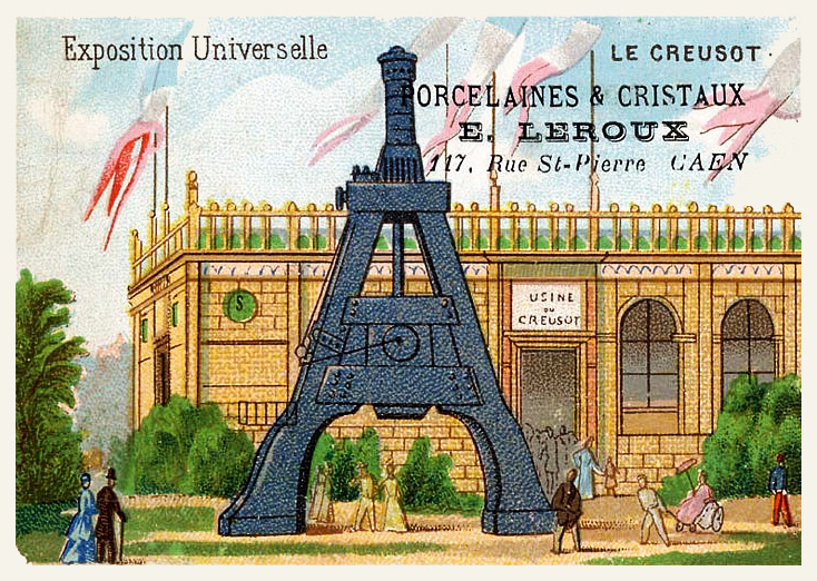 Expo Paris 1889 - Carte Illustration - Le Creusot